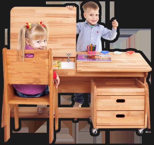 Kreatywna zabawa przy biurkach dla dzieci Ecodesk