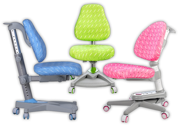 Krzesła do biurka dla dzieci - kolory