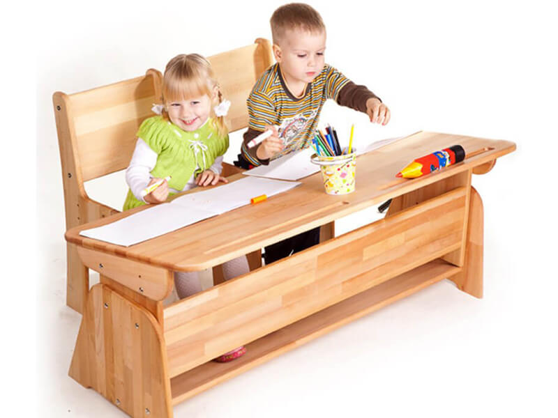 Biurko dziecięce dla dwojga - Ecodesk B-112-2