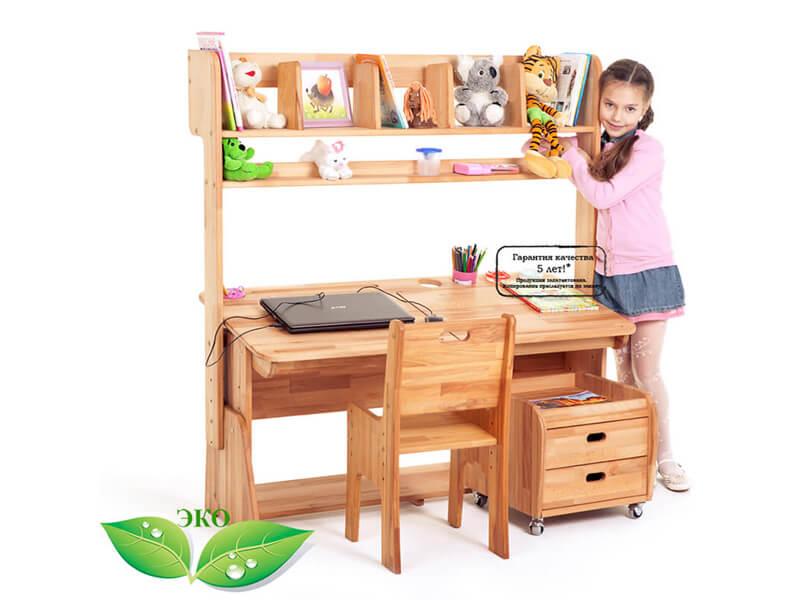 Ecodesk B-112 VIP - luksusowy model biurka z nadstawką
