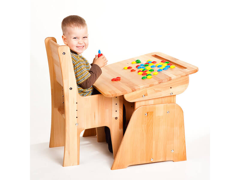 Bezpieczna zabawa przy biurku Ecodesk B-170
