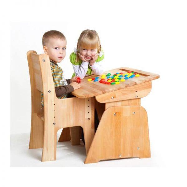 Biurko dziecięce regulowane dla najmłodszych - Ecodesk B-170