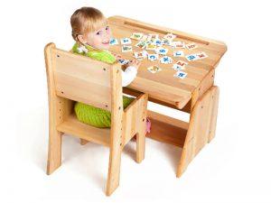 Regulowane biurko dla dziecka - model Ecodesk B-190