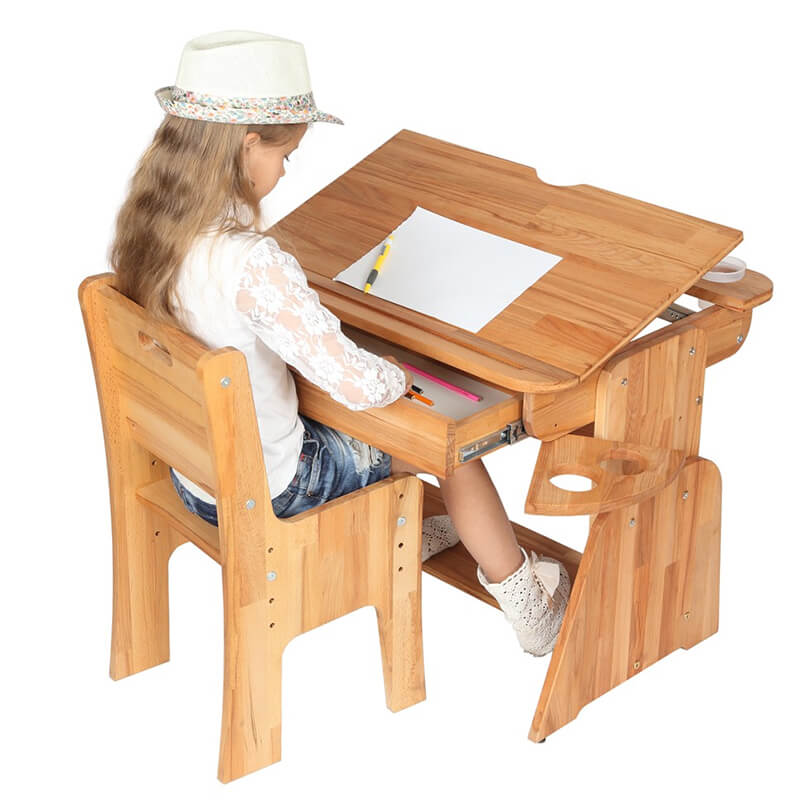 Regulacja nachylenia blatu - biurko dla dzieci E-170