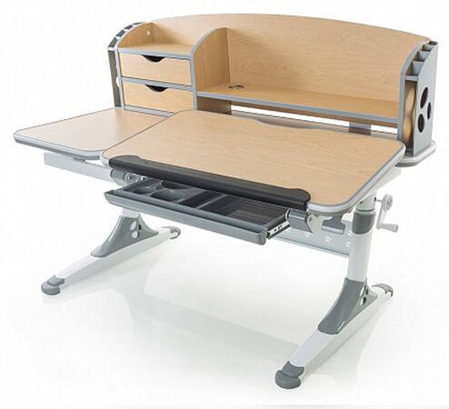 Biurko dla dzieci regulowane z nadstawką - Ergodesk Bologna