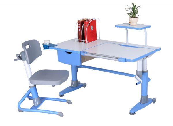 Ergodesk Ferrara - zestaw: biurko regulowane i fotel