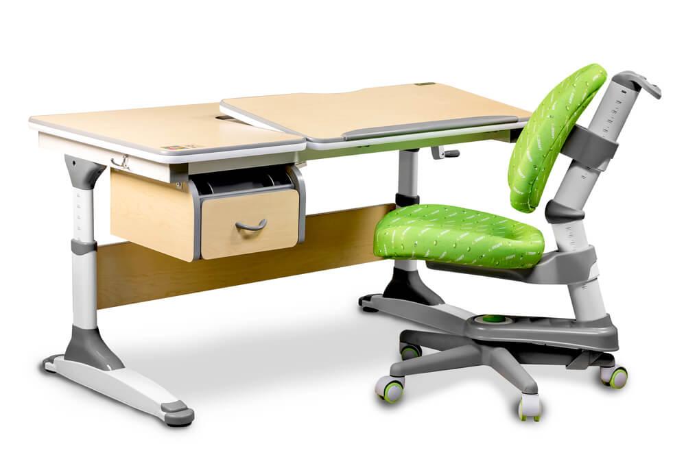 Biurko regulowane dla dziecka i fotel - Torino Ergodesk