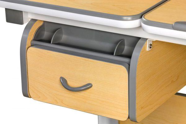 Praktyczna szuflada na przybory - biurko Ergodesk Torino