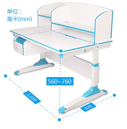 Wymiary biurka dziecięcego regulowanego Torino Ergodesk
